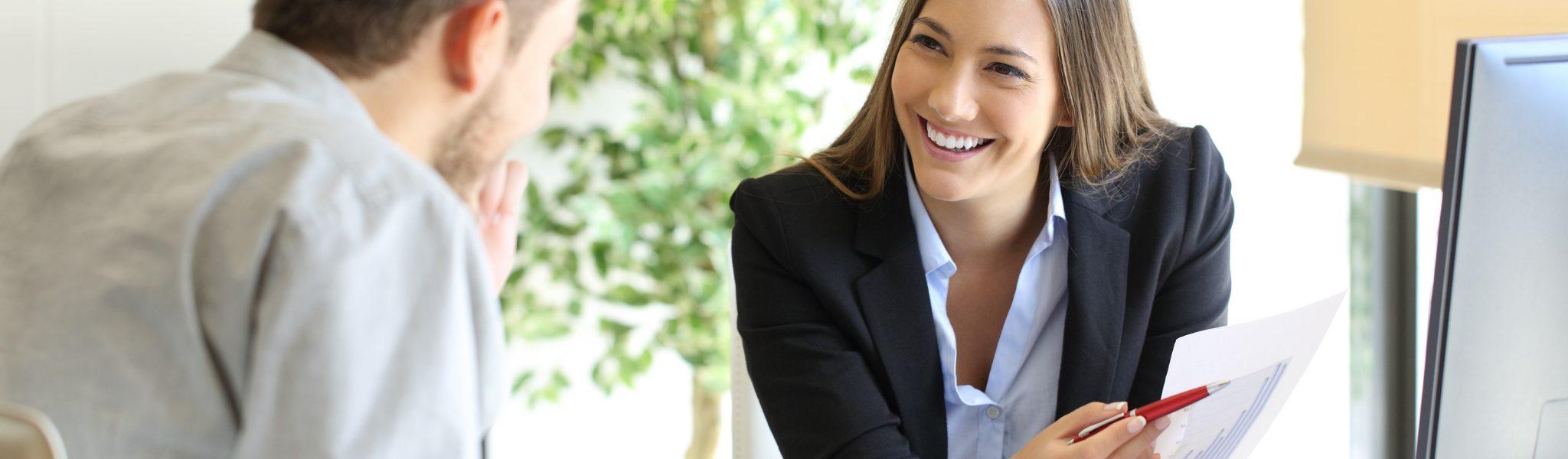 Woman showing CRM business case